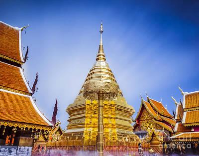 Wat Phra That Doi Suthep  Poster by Anek Suwannaphoom