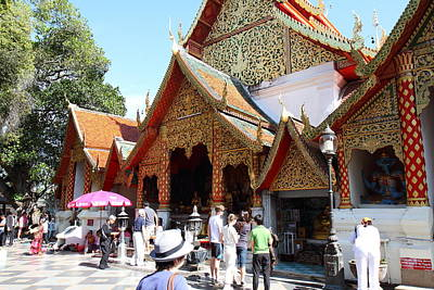 Wat Phrathat Doi Suthep - Chiang Mai Thailand - 011310 Poster by DC Photographer