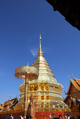 Wat Phrathat Doi Suthep - Chiang Mai Thailand - 011314 Poster by DC Photographer