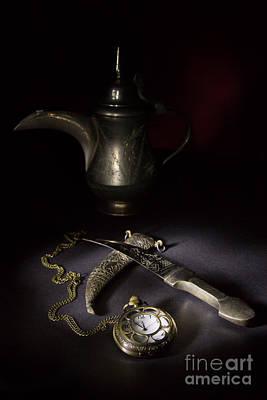 Watch Dagger And Coffee Pot Poster by Ann Garrett