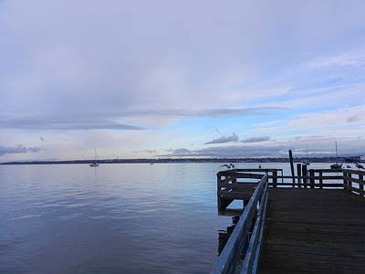 Poster featuring the photograph Water And Sky Of Bellingham Bay by Karen Molenaar Terrell