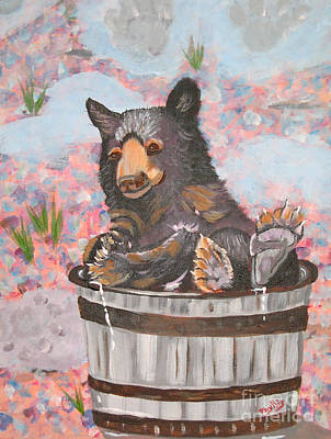 Poster featuring the painting Water Bear by Phyllis Kaltenbach