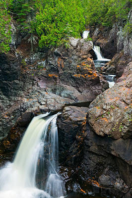 Water Cascading Over Rocks, Cascade Poster by Panoramic Images