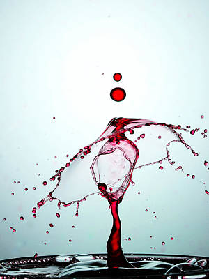 Water Droplets Collision Liquid Art 10 Poster
