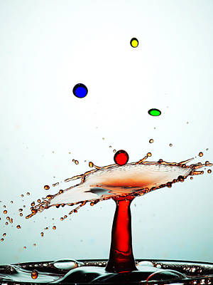 Water Droplets Collision Liquid Art 13 Poster