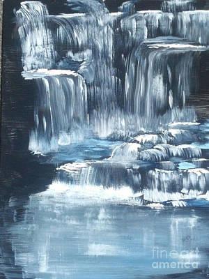 Water Falls And Falls And Falls Poster