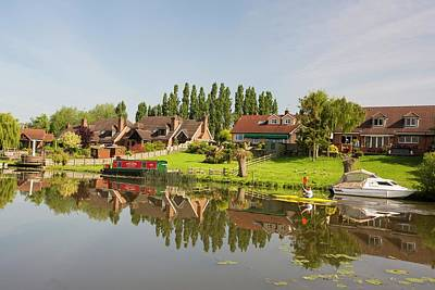 Water Front Houses In Barrow Upon Soar Poster