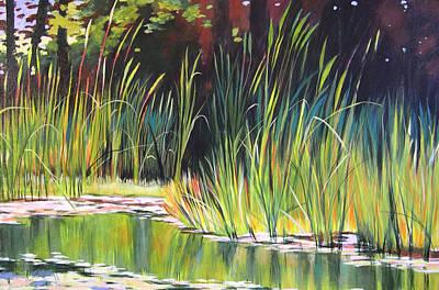 Water Garden Landscape II Poster