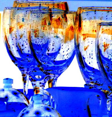 Water Glasses 4 Poster by Randall Weidner