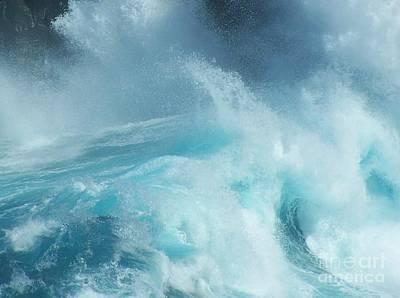 Water - Ile De La Reunion Poster by Francoise Leandre