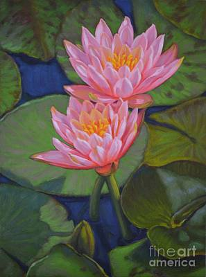Water Lilies 6 Colorado Couple Poster by Fiona Craig