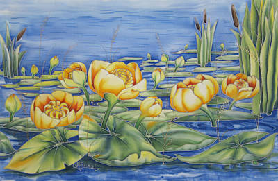 Water Lilies Poster by Alena Priest