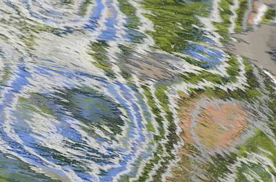 Water Ripples In Blue And Green Poster
