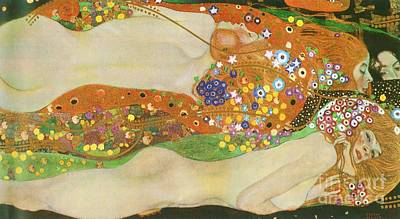 Water Snakes II By Gustave Klimt Poster