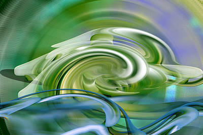 Water Sports - Abstract Art Poster by rd Erickson