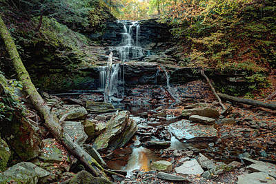 Water Starved Tuscarora Falls Poster by Gene Walls