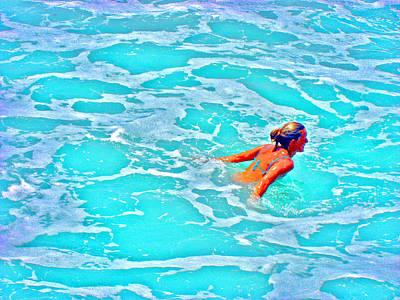 Water Textures. Art On Canary Islands. Atlantic Ocean. Tenerife. Playa De Las Americas. Wave.  Ebb A Poster
