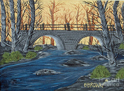 Poster featuring the painting Water Under The Bridge by Brenda Brown