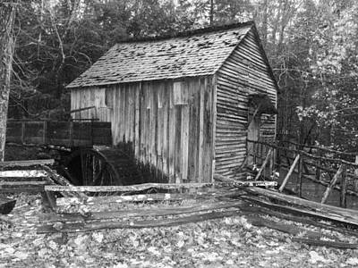 Water Wheel Shed Poster