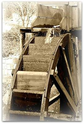 Poster featuring the photograph Water Wheel by Tara Potts