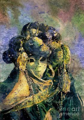 Watercolor Batik Venice Italy Poster by Ryan Fox