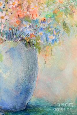 Watercolor Bouquet Poster by Pattie Calfy