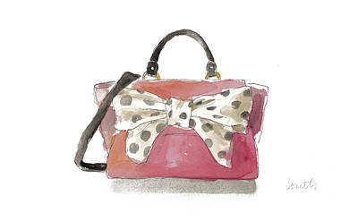 Watercolor Bow Satchel I Poster