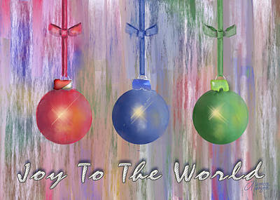 Poster featuring the digital art Watercolor Christmas Bulbs by Arline Wagner