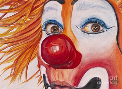 Watercolor Clown #10 Payaso Kiruz Bazo Poster by Patty Vicknair
