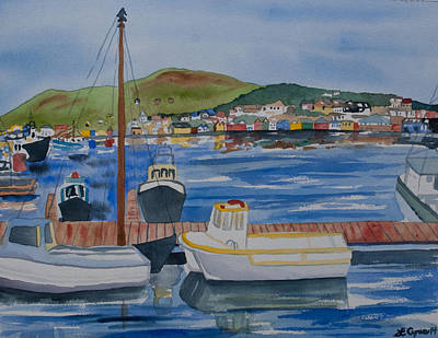 Watercolor - Dingle Ireland Poster