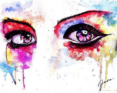 Watercolor Eyes II Poster by Elisabeth Vania