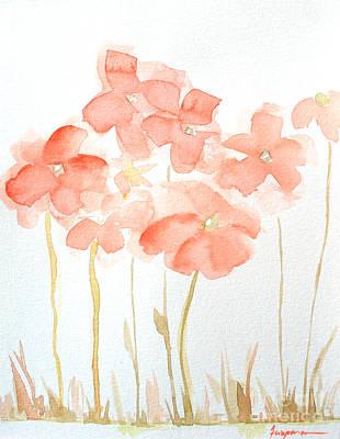 Watercolor Flower Field Poster