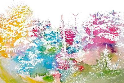 Watercolor Forest Poster by Dan Sproul