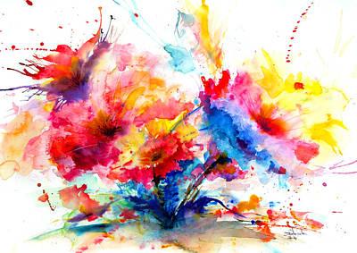Watercolor Garden Poster by Isabel Salvador