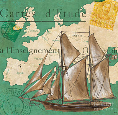 Watercolor Map 1 Poster