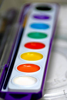 Watercolor Paint Set Poster by Amy Cicconi