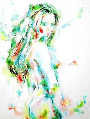 Watercolor Woman.7 Poster
