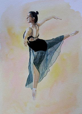Watercolour Dancer Poster