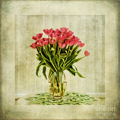 Watercolour Tulips Poster