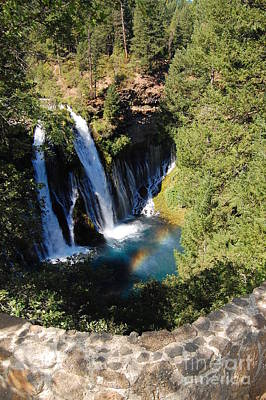 Poster featuring the photograph Waterfall And Rainbow 2 by Debra Thompson