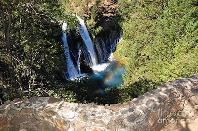 Poster featuring the photograph Waterfall And Rainbow 3 by Debra Thompson