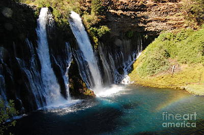 Poster featuring the photograph Waterfall And Rainbow 4 by Debra Thompson