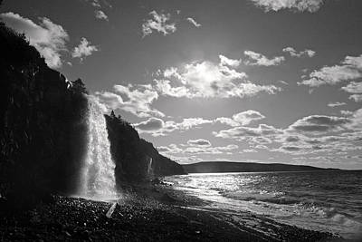 Waterfall Gulf Of Maine Bay Of Fundy Poster