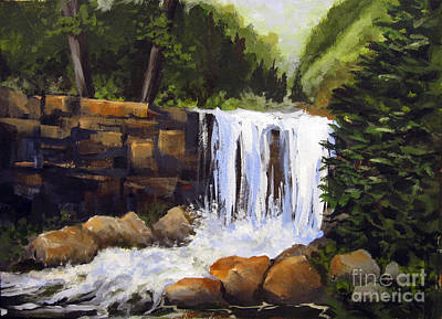 Poster featuring the painting Waterfall by Carol Hart