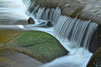Waterfall Close Up Poster by Frozen in Time Fine Art Photography