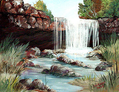 Poster featuring the painting Waterfall by Dorothy Maier