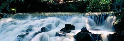 Waterfall In A Forest, Aberfeldy Birks Poster