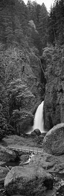 Waterfall In A Forest, Columbia River Poster