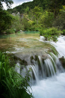 Poster featuring the photograph Waterfall In Plitvice by Laura Melis
