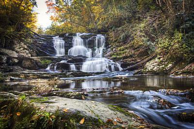 Waterfall In The Smokies Poster by Debra and Dave Vanderlaan